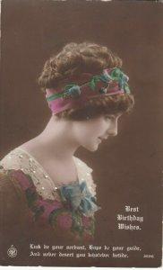 RP: Female Head Portrait, Birthday , 1912