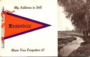 Massachusetts BRaintree My Address Is Still 1912 Pennant Series