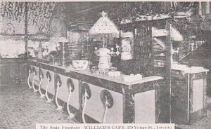 The Soda fountain , WILLIAM'S CAFE , Toronto , Ontario , Canada , 00-10s