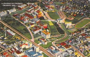 Ohio, University of Cincinnati aerial view, stadiums 1950