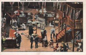Resting Between Shots, Fine Arts Studios, Hollywood, Early Postcard, Unused