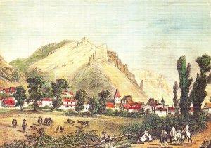 France L'Ancienne Auvergne Vic en Carlades Village Art Postcard