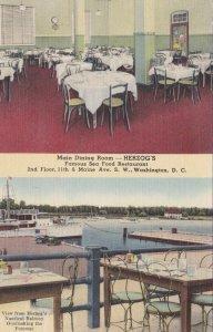 Washington D C Herzog's Seafood Restaurant Main Dining Room & Balcony Views 1816