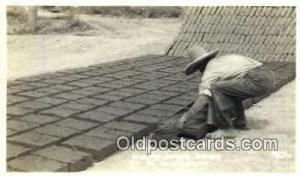 New Mexico, Making Adobe Bricks Real Photo People Working Postcard Post Card,...
