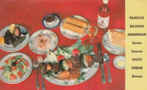 NEW YORK CITY , 1950-60s ; Balkan Armenian Restaurant , Shish Kebab