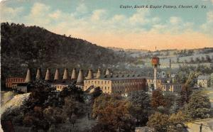 E81/ Chester West Virginia Postcard c1910 Taylor, Smith & Taylor Pottery Kilns