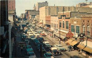 Memphis Tennessee~Beale Street~Harry's Loans~Thom McAn~1950s Cars Traffic Jam~PC