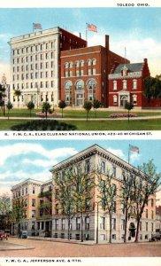 Ohio Toledo Y W C A Jefferson Avenue & Y M C A Elks Club & National Union Cur...