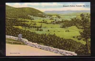 Virginia Post Card Draper's Valley Pulaski