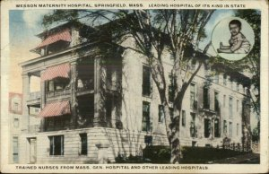 Springfield MA Wesson Maternity Baby Hospital c1920 Postcard