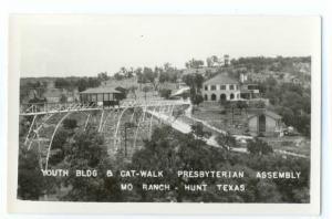 RPPC of Youth Building & Cat Walk, Presbyterian Assembly, Hunt, TX   KReal Photo
