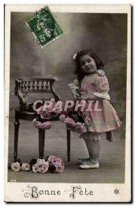 Old Postcard Fun Children Bonne fete