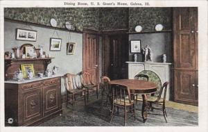 Illinois Galena Dining Room In Grant's Home 1944 Curteich