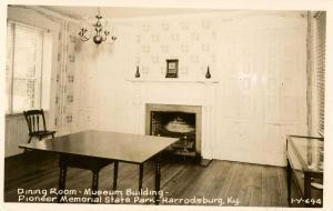 KY - Harrodsburg. Pioneer Memorial State Park. Dining Room, Museum   *RPPC