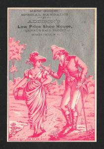 VICTORIAN TRADE CARDS (4 Diff) Addison's Shoes Men Women