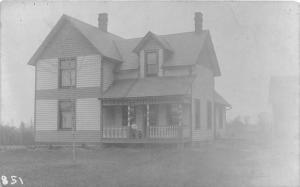 F64/ North Royalton Ohio RPPC Postcard c1910 Fieldhouse Home Leiter