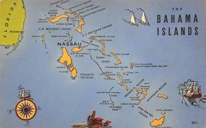 Maps Bahama Islands Nassau 1957