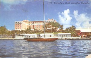 Bermuda Post card Old Vintage Antique Postcard Bermudiana Hotel Hamilton 1954