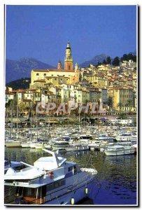 Postcard Moderne Menton Cote D & # 39Azur Old Town