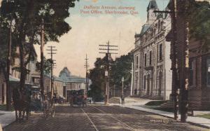 Dufferin Avenue Showing Post Office, Sherbrooke, Quebec, Canada, PU-1914