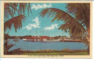 Palm Beach, FL - A View of the Yacht Basin
