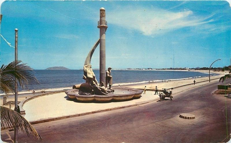 Mazatlán SIN Mexico~Monument to Fisherman~Wide Clean Beach~76-80°