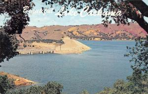 Lake Cachuma California panoramic birds eye view of area vintage pc ZA440642