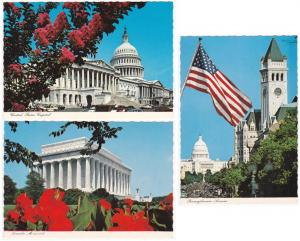 (3 cards) Views of Washington, DC