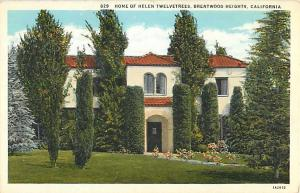 Home of Helen Twelvetree Brentwood Heights California CA, White border