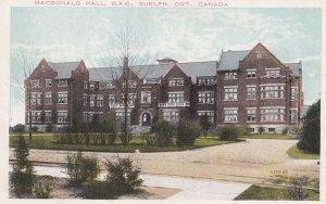 GUELPH , Ontario , Canada , 00-10s ; MacDonald hall , O.A.C.
