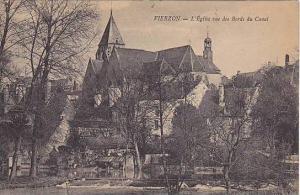 VIERZON, L' Eglise vue des Bords du Bords du Canal, Cher, France, 00-10s