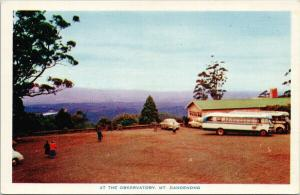 At The Observatory Mt. Dandenong Victoria Australia Old Bus Unused Postcard F9