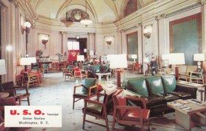 Interior USO Lounge , Union Station , Washington D.C. 40-60s
