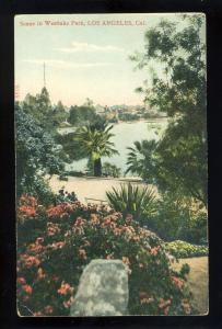 Los Angeles, California/CA Postcard, Scene In Westlake Park
