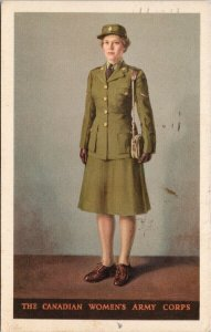 Canadian Women's Army Corp Canada Patriotic c1944 Postcard G75