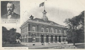 BRUNSWICK , Georgia , 1905 ; Custom House & Post Office, Inset Post Master