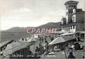 Postcard Modern Riviera Della Palme Loano Sniaggia Kursaal