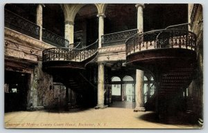 Rochester New York~Monroe County Court House Interior~Grand Staircase~c1914