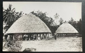 Mint Wester Samoa Real Picture Postcard RPPC Tattersall Studio Village View