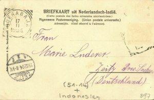indonesia, BORNEO, Dayak Headhunters Mahakam River, Shields (1904) Postcard (1)