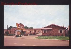 OKLAHOMA CITY OKLA. TOWER MOTEL ROUTE 66 VINTAGE ADVERTISING POSTCARD