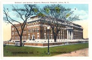 Soldiers & Sailors, Masonic Memorial Hospital, Utica NY