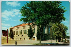 Madison~University of Wisconsin~Athletic Field House~Fire Hydrant~1960 Postcard