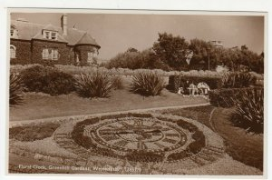 Dorset; Floral Clock, Greenhill Gardens, Weymouth RP PPC By J Salmon, Unused