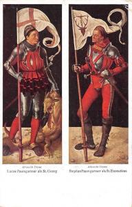 Lucas Paumgartner als St. Georg, Stephan St. Eustachius Albrecht Durer Gemaelde
