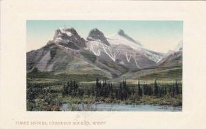 Scenic view, Three Sisters, Canadian Rockies, Banff, Canada, 00-10s