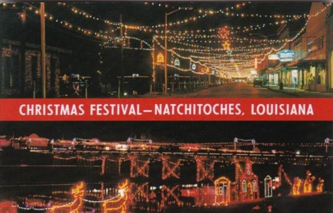 Natchitoches Christmas Festival.Louisiana Natchitoches Christmas Festival Hippostcard