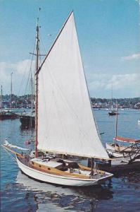 Sail Boat, Harbour Scene, Greetings From La Malbaie, Quebec, Canada, PU-1966
