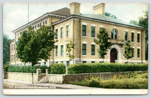 Malden Massachusetts~Glenwood School in Summer~c1910 Postcard