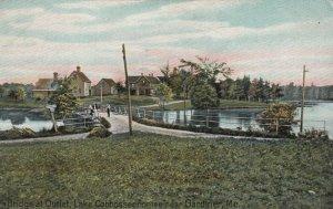 GARDINER, Maine, 1900-10s; Bridge at Outlet, Lake Cobbosseecontee